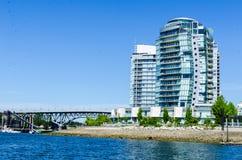 "Paisaje urbano de Vancouver, Columbia Británica, †""False Creek de Canadá Foto de archivo"