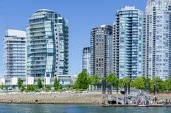 """Paisaje urbano de Vancouver, Columbia Británica, †""""False Creek de Canadá Fotografía de archivo"""