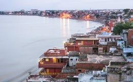 Paisaje urbano de Varanasi Foto de archivo