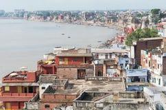 Paisaje urbano de Varanasi Fotografía de archivo libre de regalías