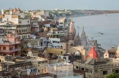 Paisaje urbano de Varanasi Fotos de archivo