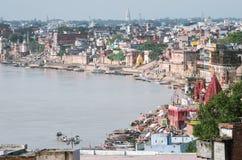 Paisaje urbano de Varanasi Foto de archivo libre de regalías