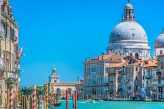 Paisaje urbano de Venecia del barco, Italia Fotografía de archivo libre de regalías