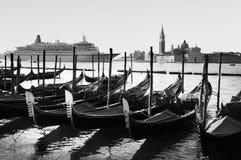 Paisaje urbano de Venecia Italia - transporte Imagenes de archivo