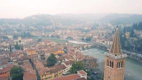 Paisaje urbano de Verona almacen de metraje de vídeo