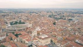 Paisaje urbano de Verona almacen de video