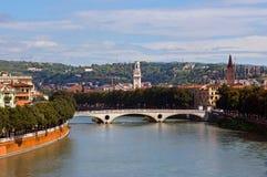Paisaje urbano de Verona foto de archivo libre de regalías
