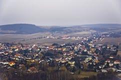 Paisaje urbano de Viena de un avión Fotos de archivo libres de regalías