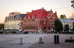 Paisaje urbano de Vyborg, Rusia Foto de archivo