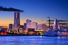 Paisaje urbano de Yokohama, Japón fotos de archivo