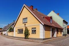 Paisaje urbano de Ystad Imágenes de archivo libres de regalías
