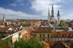 Paisaje urbano de Zagreb fotografía de archivo libre de regalías