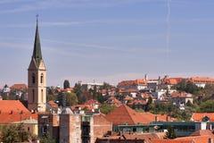 Paisaje urbano de Zagreb imagenes de archivo