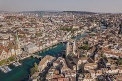 Paisaje urbano de Zurich imagenes de archivo