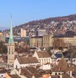 Paisaje urbano de Zurich Foto de archivo