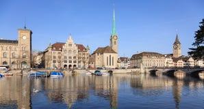 Paisaje urbano de Zurich Fotografía de archivo libre de regalías