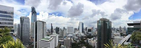 Paisaje urbano del área de Sathorn en Bangkok Imágenes de archivo libres de regalías