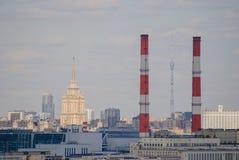 Paisaje urbano del centro céntrico de Moscú Imagenes de archivo