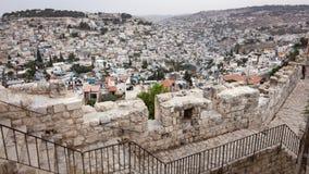 Paisaje urbano del horizonte de Jerusalén Imágenes de archivo libres de regalías
