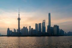 Paisaje urbano del horizonte de Shangai, vista de Shangai en las finanzas de Lujiazui Imagen de archivo libre de regalías