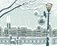 Paisaje urbano del invierno