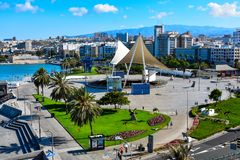 Paisaje urbano del Las Palmas, Canarias foto de archivo