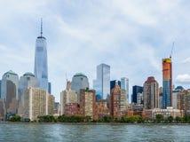 Paisaje urbano del Lower Manhattan Foto de archivo