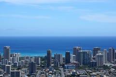 Paisaje urbano del metropolitano de Honolulu Fotos de archivo