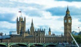 Paisaje urbano del ojo de Londres inglaterra Foto de archivo libre de regalías