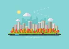 Paisaje urbano del otoño Fotografía de archivo libre de regalías