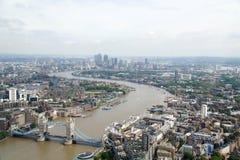 Paisaje urbano del puente de Londres imagen de archivo