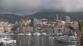 Paisaje urbano del puerto de Mónaco metrajes