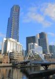 Paisaje urbano del sur Australia del banco de Melbourne Fotos de archivo libres de regalías