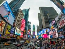 Paisaje urbano del tiempo del día de Time Square foto de archivo libre de regalías