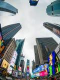 Paisaje urbano del tiempo del día de Time Square fotografía de archivo libre de regalías