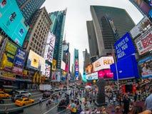 Paisaje urbano del tiempo del día de Time Square imagen de archivo libre de regalías