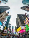 Paisaje urbano del tiempo del día de Time Square fotografía de archivo