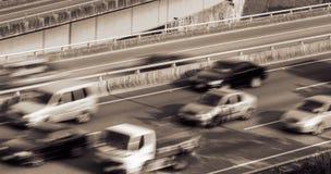 Paisaje urbano del tráfico Fotos de archivo