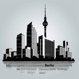 Paisaje urbano del vector de Berlín Fotos de archivo