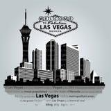 Paisaje urbano del vector de Las Vegas Fotos de archivo