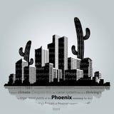 Paisaje urbano del vector de Phoenix Imagenes de archivo