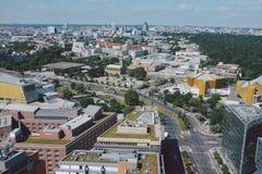 Paisaje urbano desde arriba en el cuadrado de Potsdam en Berlín fotos de archivo libres de regalías