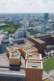Paisaje urbano desde arriba en el cuadrado de Potsdam en Berlín fotografía de archivo
