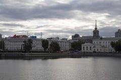 Paisaje urbano en Ekaterimburgo, Federación Rusa imagen de archivo libre de regalías