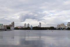Paisaje urbano en Ekaterimburgo, Federación Rusa foto de archivo