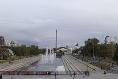 Paisaje urbano en Ekaterimburgo, Federación Rusa fotos de archivo libres de regalías