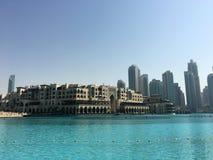 Paisaje urbano en el día de Dubai Foto de archivo