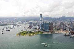 Paisaje urbano en Hong-Kong fotografía de archivo libre de regalías