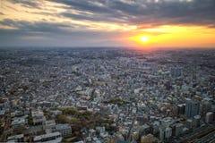 Paisaje urbano en Japón fotos de archivo