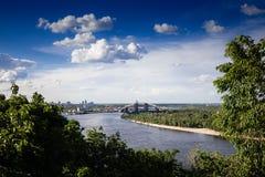 Paisaje urbano en Kyiv, Ucrania Fotos de archivo libres de regalías